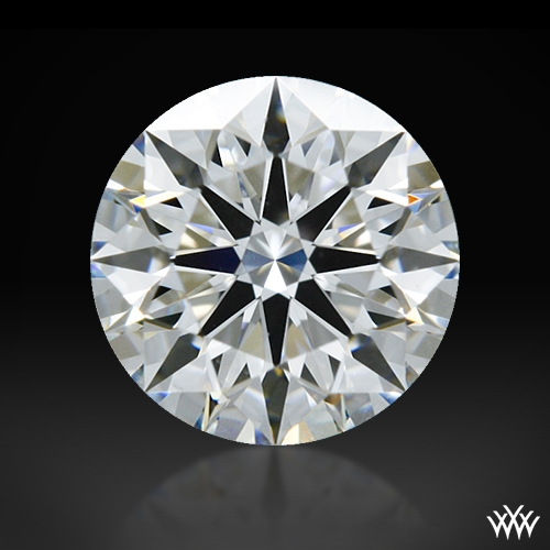 0.708 ct F VS2 A CUT ABOVE® Hearts and Arrows Super Ideal Round Cut Loose Diamond