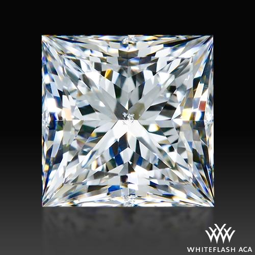 0.686 ct F SI1 A CUT ABOVE® Princess Super Ideal Cut Diamond