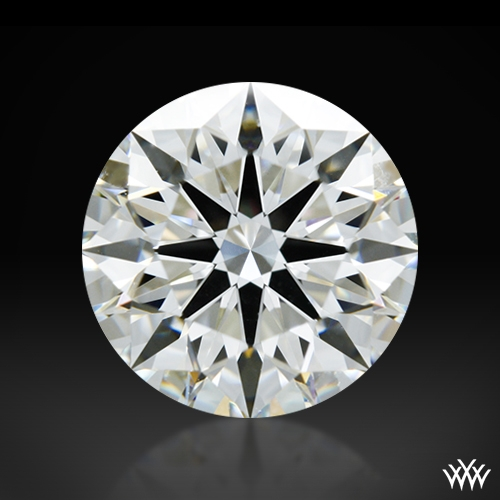 1.617 ct H VS1 A CUT ABOVE® Hearts and Arrows Super Ideal Round Cut Loose Diamond