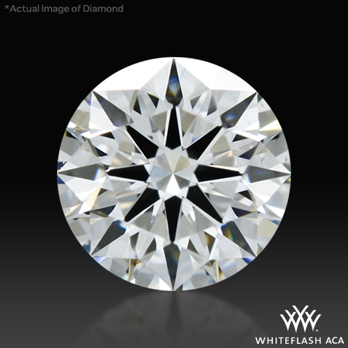 0.661 ct E VS2 A CUT ABOVE® Hearts and Arrows Super Ideal Round Cut Loose Diamond