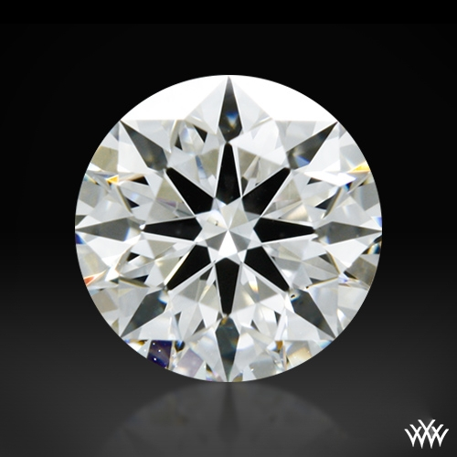 0.408 ct F SI1 A CUT ABOVE® Hearts and Arrows Super Ideal Round Cut Loose Diamond