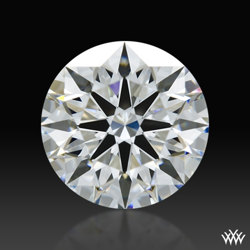 0.807 ct F SI1 A CUT ABOVE® Hearts and Arrows Super Ideal Round Cut Loose Diamond