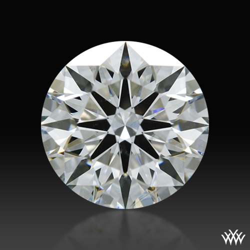 0.844 ct F SI1 A CUT ABOVE® Hearts and Arrows Super Ideal Round Cut Loose Diamond