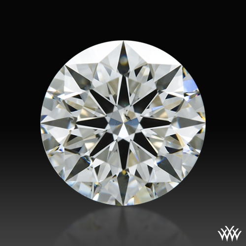 0.808 ct H SI1 A CUT ABOVE® Hearts and Arrows Super Ideal Round Cut Loose Diamond