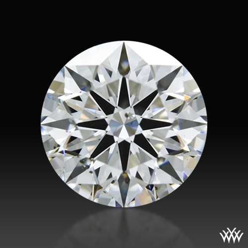 0.864 ct F SI1 A CUT ABOVE® Hearts and Arrows Super Ideal Round Cut Loose Diamond