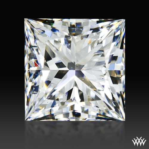0.806 ct F SI1 A CUT ABOVE® Princess Super Ideal Cut Diamond