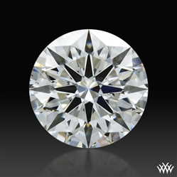 0.416 ct F SI1 A CUT ABOVE® Hearts and Arrows Super Ideal Round Cut Loose Diamond