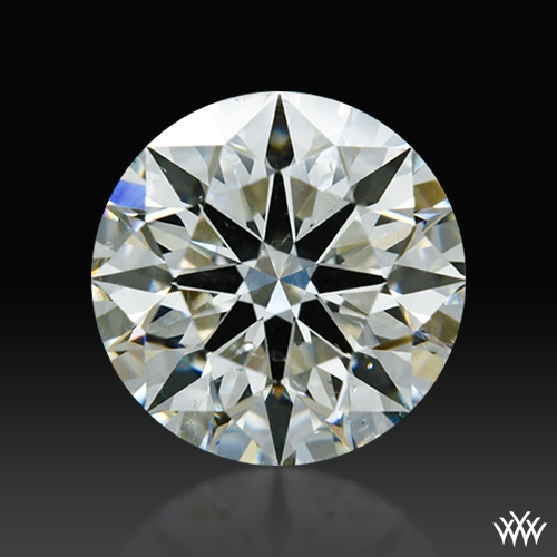 1.297 ct J SI1 A CUT ABOVE® Hearts and Arrows Super Ideal Round Cut Loose Diamond