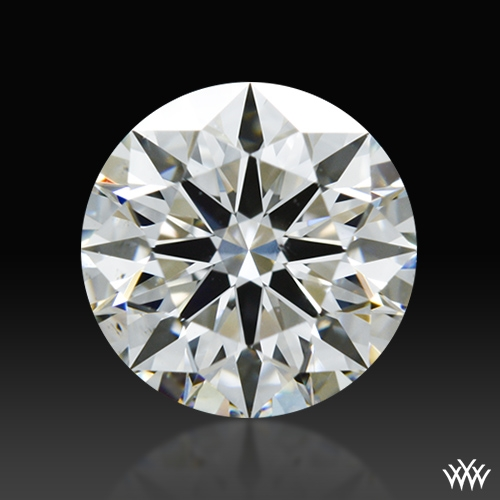 0.843 ct F SI1 A CUT ABOVE® Hearts and Arrows Super Ideal Round Cut Loose Diamond