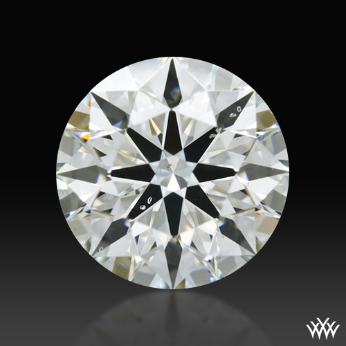 0.756 ct J SI1 A CUT ABOVE® Hearts and Arrows Super Ideal Round Cut Loose Diamond