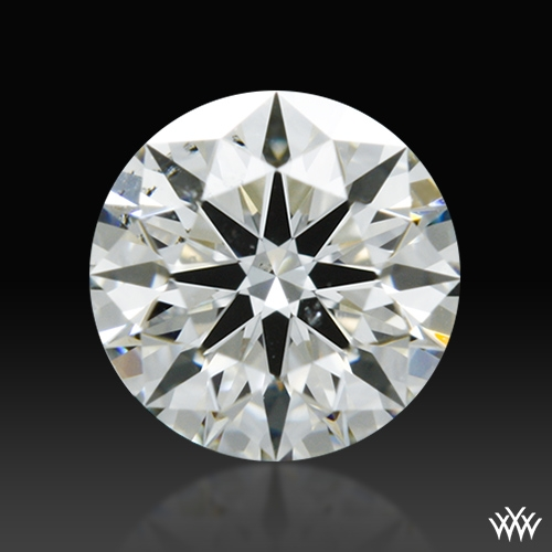 0.406 ct I SI1 A CUT ABOVE® Hearts and Arrows Super Ideal Round Cut Loose Diamond