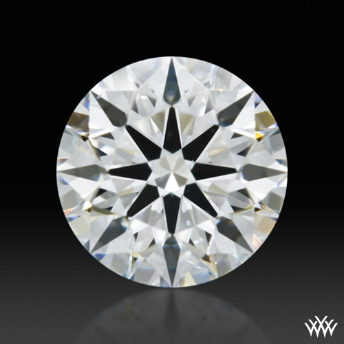 0.554 ct F SI1 A CUT ABOVE® Hearts and Arrows Super Ideal Round Cut Loose Diamond