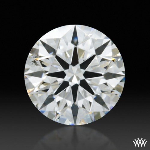 0.368 ct F SI1 A CUT ABOVE® Hearts and Arrows Super Ideal Round Cut Loose Diamond