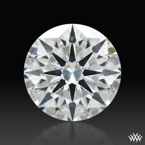 0.908 ct H SI1 A CUT ABOVE® Hearts and Arrows Super Ideal Round Cut Loose Diamond