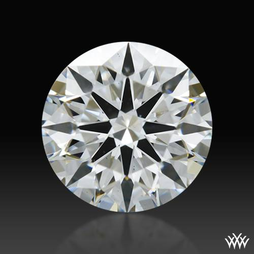 0.758 ct F VS2 A CUT ABOVE® Hearts and Arrows Super Ideal Round Cut Loose Diamond