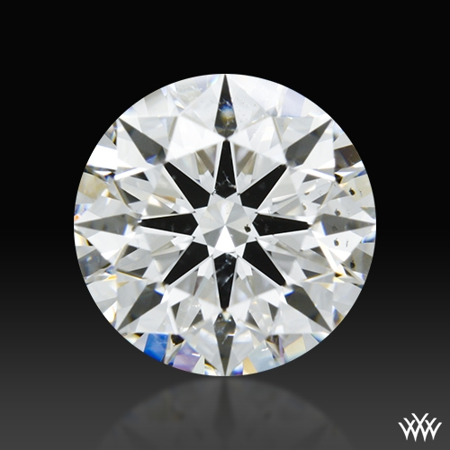 1.66 ct F SI1 A CUT ABOVE® Hearts and Arrows Super Ideal Round Cut Loose Diamond