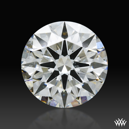 0.827 ct H SI1 A CUT ABOVE® Hearts and Arrows Super Ideal Round Cut Loose Diamond