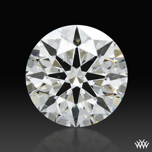 0.845 ct H SI1 A CUT ABOVE® Hearts and Arrows Super Ideal Round Cut Loose Diamond