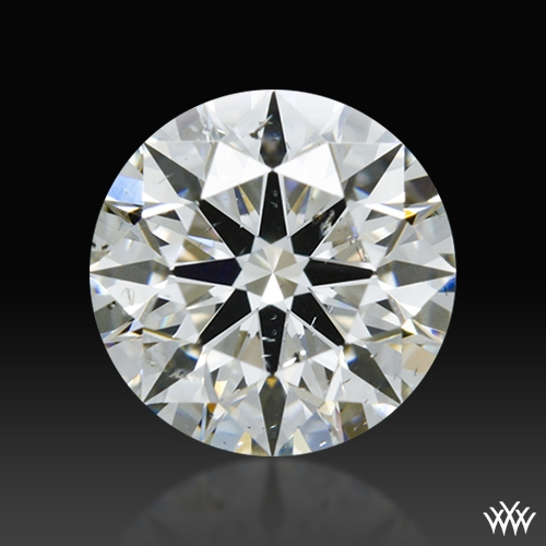 0.906 ct G SI2 A CUT ABOVE® Hearts and Arrows Super Ideal Round Cut Loose Diamond