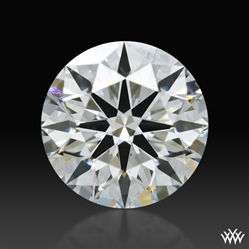 0.947 ct F SI1 A CUT ABOVE® Hearts and Arrows Super Ideal Round Cut Loose Diamond