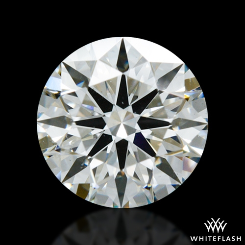 0.806 ct H SI1 A CUT ABOVE® Hearts and Arrows Super Ideal Round Cut Loose Diamond