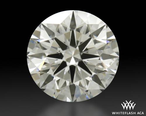 0.768 ct F SI1 A CUT ABOVE® Hearts and Arrows Super Ideal Round Cut Loose Diamond