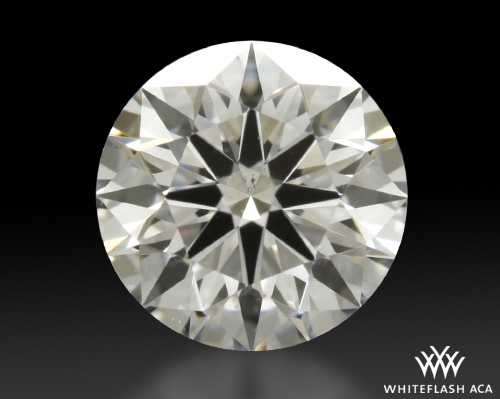 0.811 ct F SI1 A CUT ABOVE® Hearts and Arrows Super Ideal Round Cut Loose Diamond