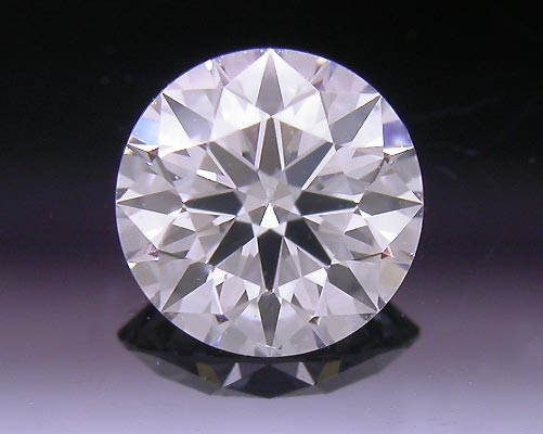 0.383 ct F SI1 A CUT ABOVE® Hearts and Arrows Super Ideal Round Cut Loose Diamond