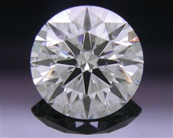 0.742 ct H SI1 A CUT ABOVE® Hearts and Arrows Super Ideal Round Cut Loose Diamond