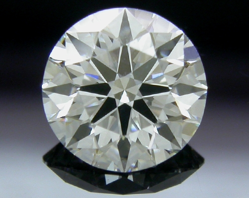 0.558 ct F SI1 A CUT ABOVE® Hearts and Arrows Super Ideal Round Cut Loose Diamond