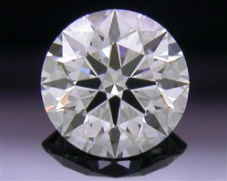 0.528 ct G SI1 A CUT ABOVE® Hearts and Arrows Super Ideal Round Cut Loose Diamond