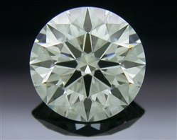 0.616 ct K VS1 A CUT ABOVE® Hearts and Arrows Super Ideal Round Cut Loose Diamond