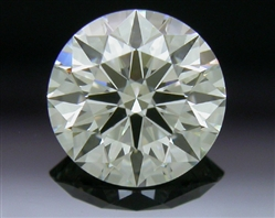 0.573 ct J SI1 A CUT ABOVE® Hearts and Arrows Super Ideal Round Cut Loose Diamond
