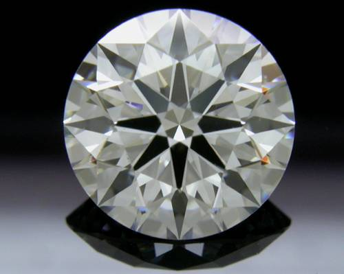 1.543 ct F SI1 A CUT ABOVE® Hearts and Arrows Super Ideal Round Cut Loose Diamond