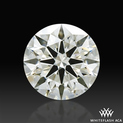 1.208 ct K SI1 A CUT ABOVE® Hearts and Arrows Super Ideal Round Cut Loose Diamond