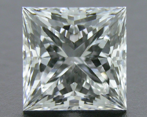 0.721 ct F VS2 A CUT ABOVE® Princess Super Ideal Cut Diamond