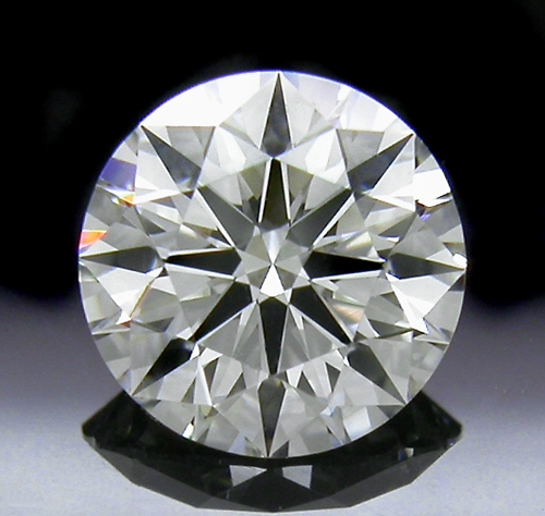 0.834 ct H SI1 A CUT ABOVE® Hearts and Arrows Super Ideal Round Cut Loose Diamond