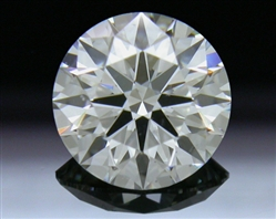 0.91 ct H SI1 A CUT ABOVE® Hearts and Arrows Super Ideal Round Cut Loose Diamond