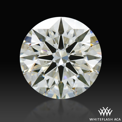 0.541 ct J SI1 A CUT ABOVE® Hearts and Arrows Super Ideal Round Cut Loose Diamond