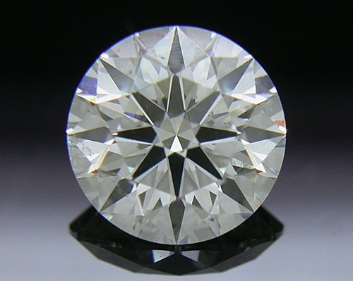 0.837 ct H SI1 A CUT ABOVE® Hearts and Arrows Super Ideal Round Cut Loose Diamond
