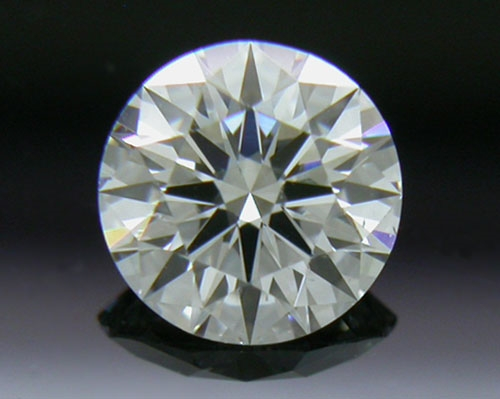 0.406 ct F SI1 A CUT ABOVE® Hearts and Arrows Super Ideal Round Cut Loose Diamond