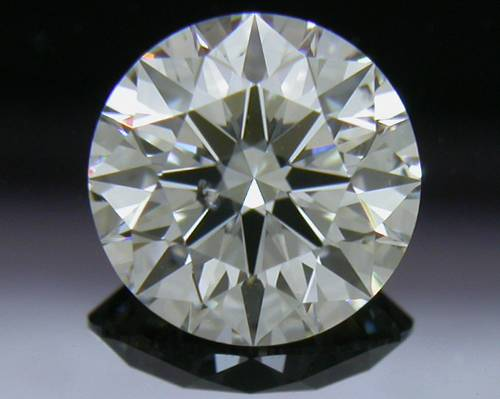 0.837 ct F SI1 A CUT ABOVE® Hearts and Arrows Super Ideal Round Cut Loose Diamond