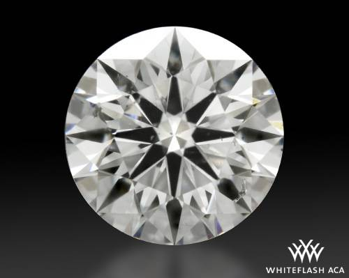 0.748 ct F SI2 A CUT ABOVE® Hearts and Arrows Super Ideal Round Cut Loose Diamond