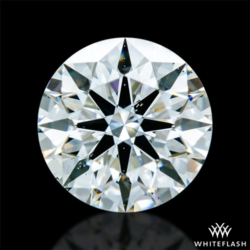0.517 ct F SI1 A CUT ABOVE® Hearts and Arrows Super Ideal Round Cut Loose Diamond