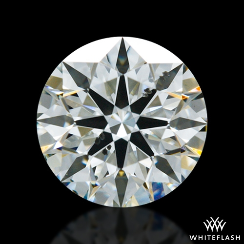 0.716 ct J SI1 A CUT ABOVE® Hearts and Arrows Super Ideal Round Cut Loose Diamond