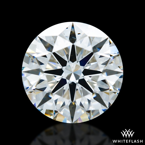 0.917 ct F SI1 A CUT ABOVE® Hearts and Arrows Super Ideal Round Cut Loose Diamond