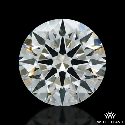 0.902 ct J SI1 A CUT ABOVE® Hearts and Arrows Super Ideal Round Cut Loose Diamond