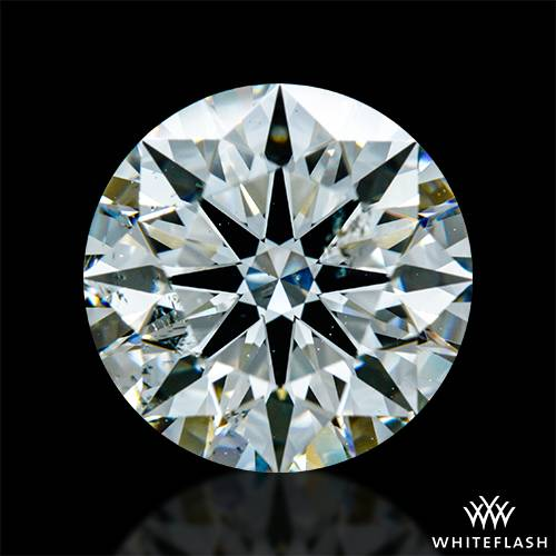 2.45 ct J SI1 A CUT ABOVE® Hearts and Arrows Super Ideal Round Cut Loose Diamond