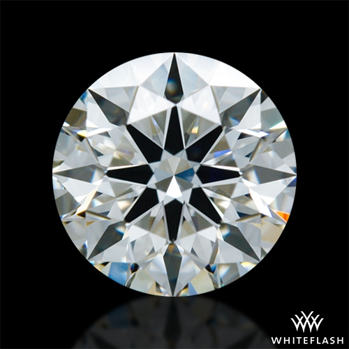 0.918 ct J VS1 A CUT ABOVE® Hearts and Arrows Super Ideal Round Cut Loose Diamond