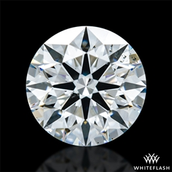 0.808 ct F SI1 A CUT ABOVE® Hearts and Arrows Super Ideal Round Cut Loose Diamond